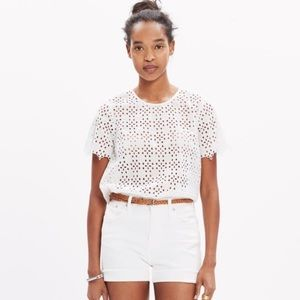 Madewell Eyelet Tailored Tee